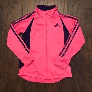 Pink Adidas Girls Jacket Size 5